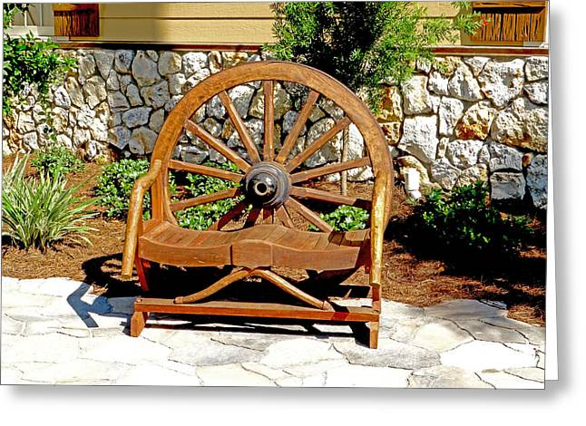 Wooden Wagons Mixed Media Greeting Cards - I want my wheel back Greeting Card by Dennis Dugan