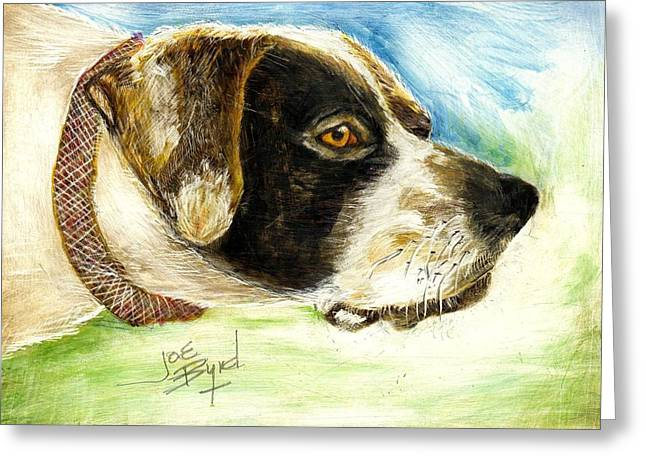 Setter Pointer Greeting Cards - I Want To Hunt Greeting Card by Joe Byrd