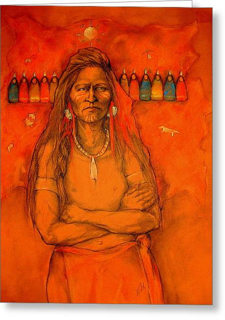 Native American Theme Greeting Cards - I Want To Know Greeting Card by Johanna Elik