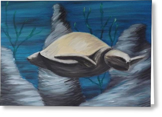 Inner Reality Paintings Greeting Cards - I Want To Live In My Shell Greeting Card by Jon D Gemma