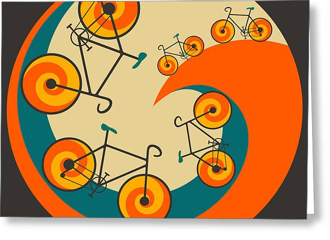 Abstract Artist Greeting Cards - I Want To Ride My Bicycle Greeting Card by Jazzberry Blue