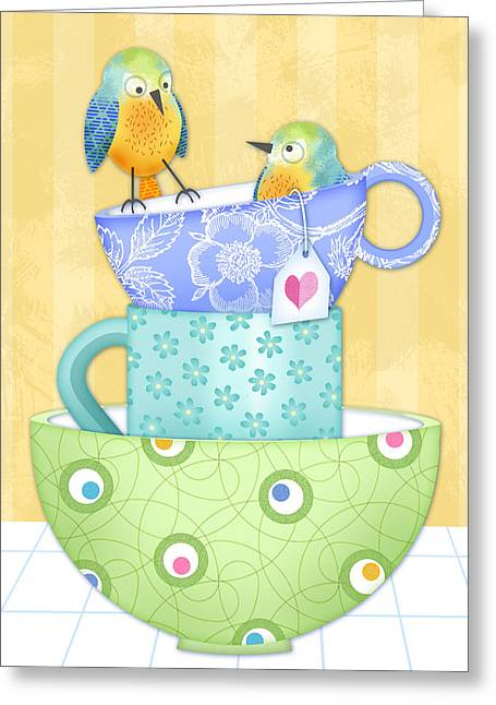 I Was Here First Greeting Card by Valerie Drake Lesiak