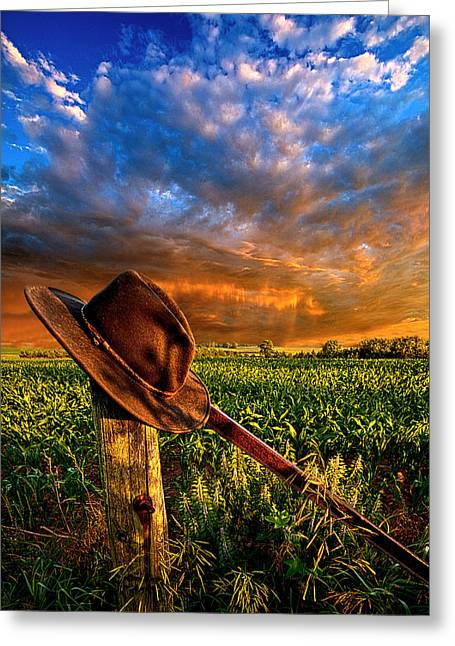 Cowboy Photographs Greeting Cards - I Was Here Greeting Card by Phil Koch