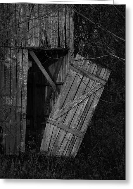 Beach Road Greeting Cards - I Watched You Disappear - BW Greeting Card by Rebecca Sherman