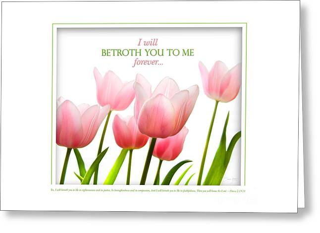 Betrothed Greeting Cards - I Will Betroth You Greeting Card by Shevon Johnson