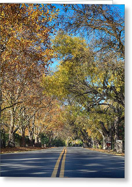 Yellow Line Photographs Greeting Cards - I Will Follow Greeting Card by Laurie Search