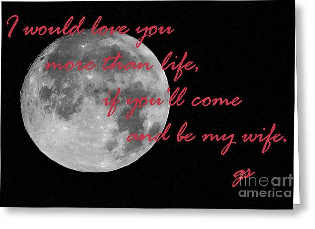 I Will Love You More Than Life Greeting Card by Rene Triay Photography
