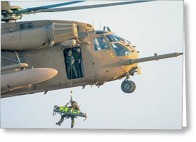 Iaf Sikorsky Ch-53 Helicopter Greeting Card by Photostock-israel