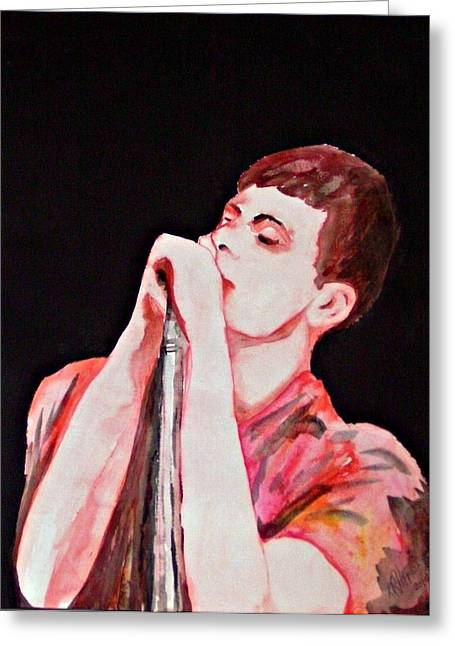 Recently Sold -  - Division Greeting Cards - Ian Curtis 2010 Greeting Card by Ken Higgins