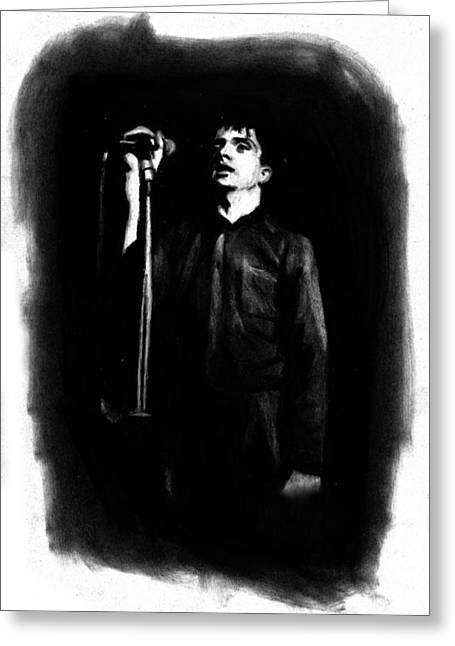 Recently Sold -  - Division Greeting Cards - Ian Curtis Greeting Card by Teresa Beveridge