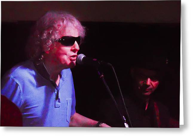 Mott Greeting Cards - Ian Hunter at Havana in New Hope Pa Greeting Card by Bill Cannon