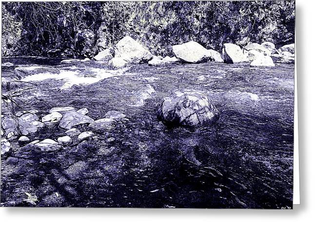 Lahaina Digital Greeting Cards - Iao Valley Stream 2 - Colored Pencil Greeting Card by Robert Pierce