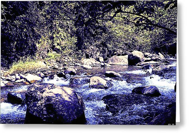 Lahaina Digital Greeting Cards - Iao Valley Stream 3 - Colored Pencil Greeting Card by Robert Pierce