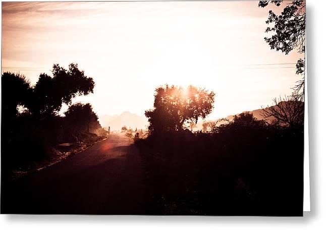Extremadura Greeting Cards - Iberian Sunrise Road Greeting Card by Calvin Hanson
