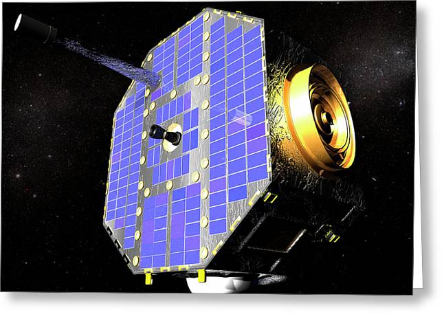 Ibex Spacecraft In Space Greeting Card by Nasa/goddard Space Flight Center/conceptual Image Lab