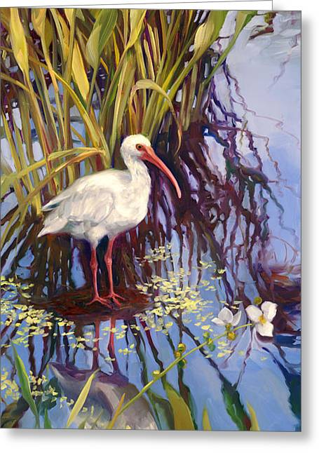 Ibis Greeting Cards - Ibis  Greeting Card by Laurie Hein