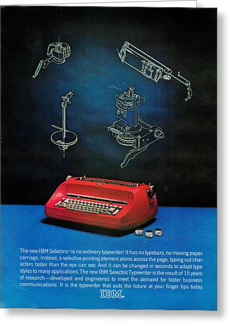 Typewriter Greeting Cards - IBM Selectric Greeting Card by Nomad Art And  Design