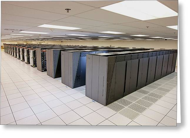 Ibm Sequoia Supercomputer Greeting Card by Lawrence Livermore National Laboratory