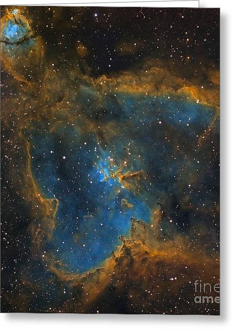 Heart Nebula Greeting Cards - Ic 1805, The Heart Nebula Greeting Card by Michael Miller