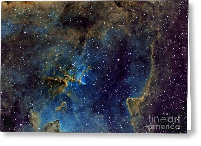 Ic1805 Greeting Cards - IC1805 Narrowband Heart Nebula Greeting Card by Celestial Images