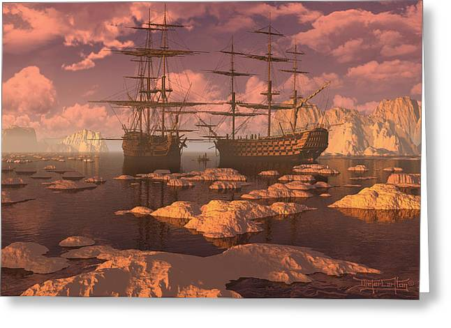 Ice Accord Greeting Card by Dieter Carlton