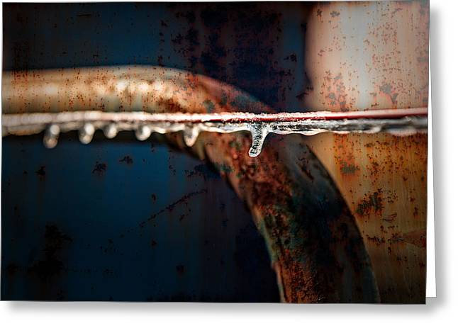 Tn Digital Art Greeting Cards - Ice and Rust Greeting Card by Brett Engle