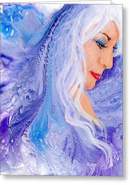 Ice Angel Greeting Card by Sherry Shipley