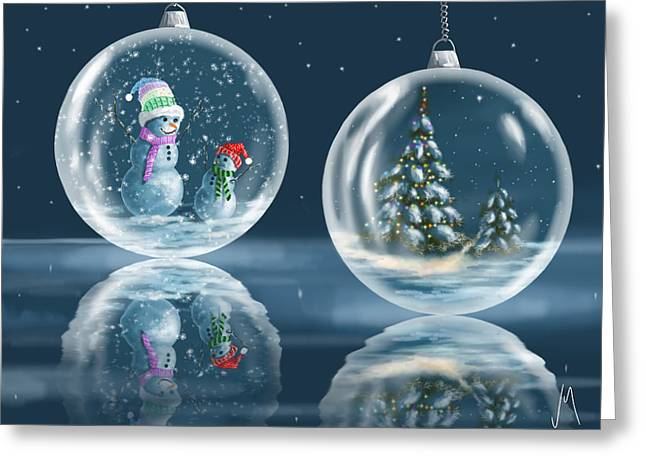 Ice Balls Greeting Card by Veronica Minozzi