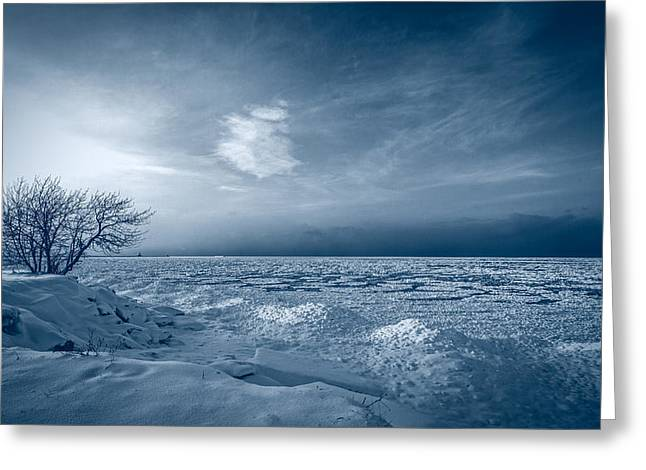Lake Ontario Greeting Cards - Ice Blue Greeting Card by Everet Regal