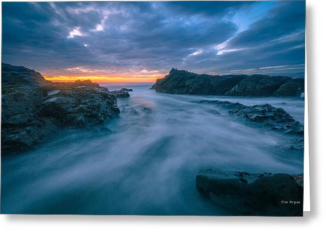 Cambria Greeting Cards - Ice Blue Greeting Card by Tim Bryan