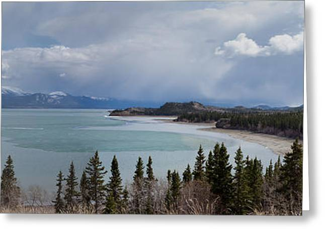 Floating Ice Sheet Greeting Cards - Ice-Break at Lake Laberge Greeting Card by Stephan Pietzko