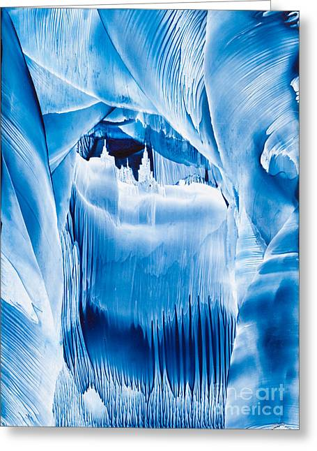 Fantasy World Greeting Cards - Ice Castles wax painting Greeting Card by Simon Bratt Photography LRPS