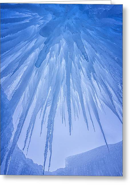 Darren Greeting Cards - Ice Cave Greeting Card by Darren  White