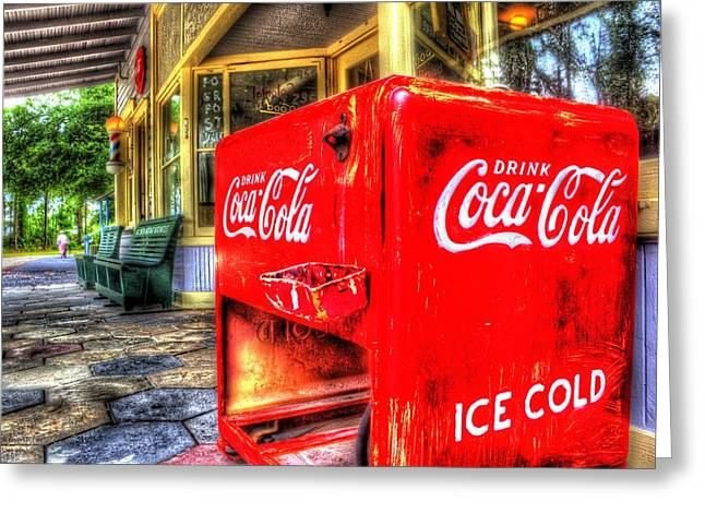 Recently Sold -  - Grocery Store Greeting Cards - Ice Cold Coca-Cola Greeting Card by Zane Kuhle
