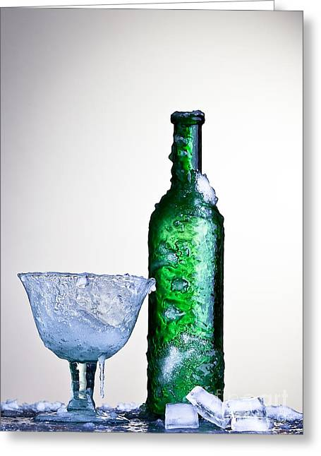 Bubbly Greeting Cards - Ice Cold Drink Greeting Card by Dirk Ercken