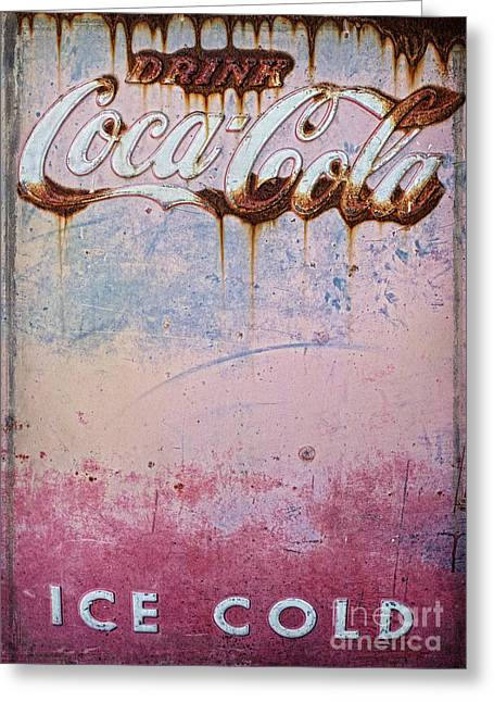 Vending Machine Photographs Greeting Cards - Ice Cold Greeting Card by Elena Nosyreva