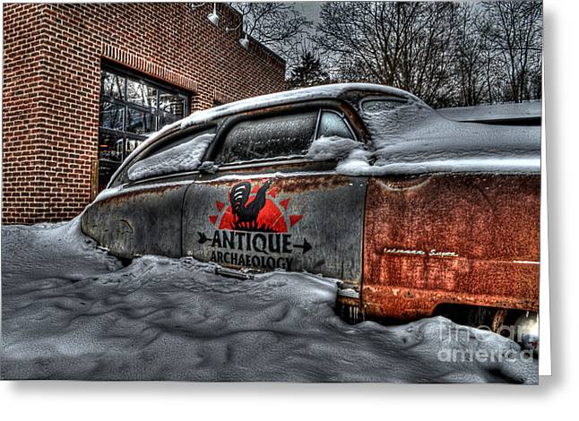 Recently Sold -  - Rusted Cars Greeting Cards - Ice Cold Greeting Card by Hilton Barlow
