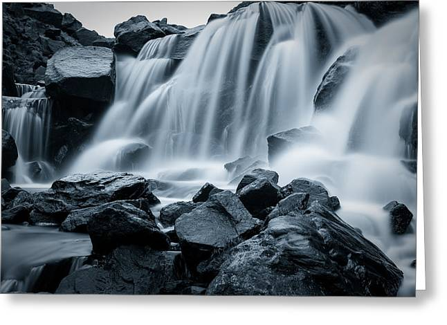 Cold Greeting Cards - Ice Cold Waterfall. Greeting Card by Daniel Kay