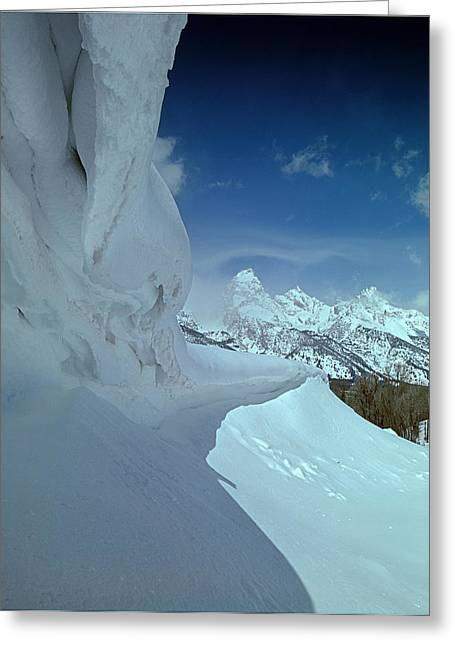Snow Cornice Greeting Cards - Ice Cornices Greeting Card by Ed  Cooper Photography