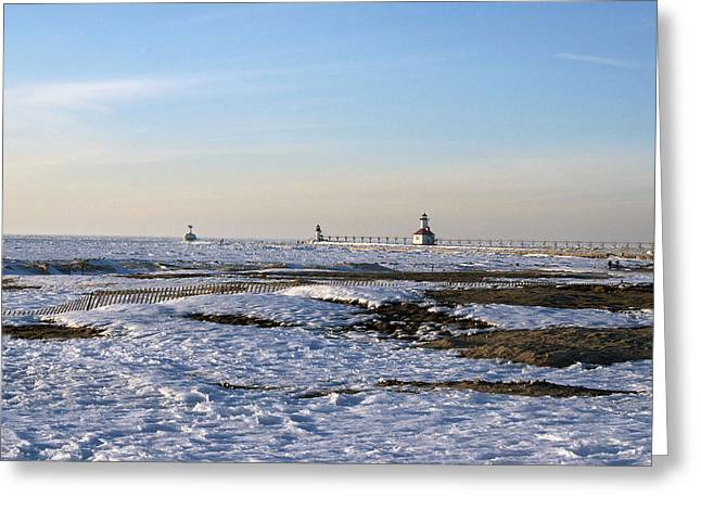 Port St Joseph Greeting Cards - Ice Covered Lake Greeting Card by Rick Jackson