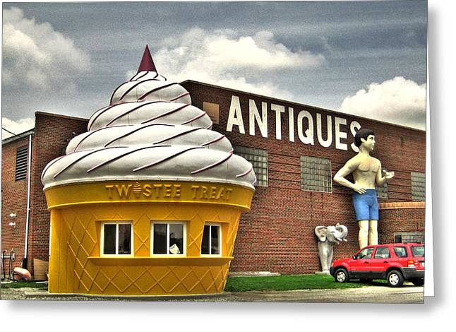 Quirky Greeting Cards - Ice cream Greeting Card by Jane Linders