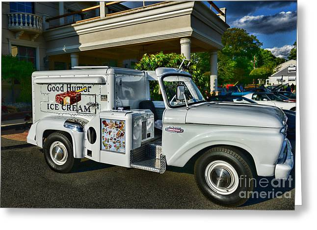 Children Ice Cream Greeting Cards - Ice Cream Man Greeting Card by Paul Ward