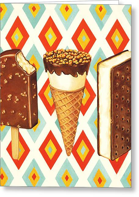 Sandwich Greeting Cards - Ice Cream Novelties Greeting Card by Kelly Gilleran