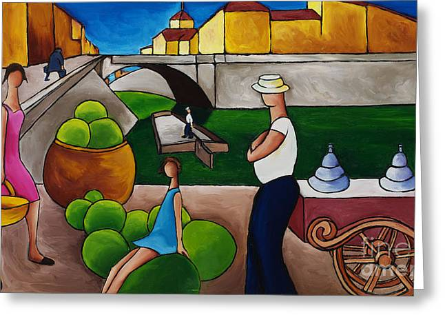 William Cain Greeting Cards - Ice Cream Seller Greeting Card by William Cain