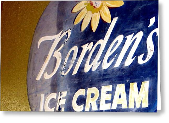 Ice Cream Sign Greeting Card by Dorothy Menera