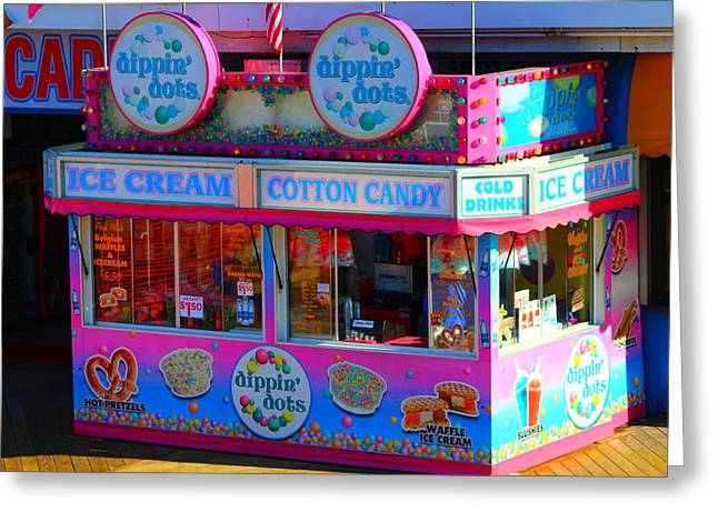 Restore The Shore Greeting Cards - Ice Cream Stand at the Seaside Heights Boardwalk Greeting Card by Richard Cheski