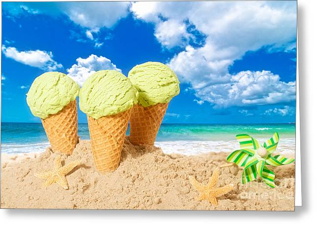 Pinwheel Greeting Cards - Ice Creams Greeting Card by Amanda And Christopher Elwell