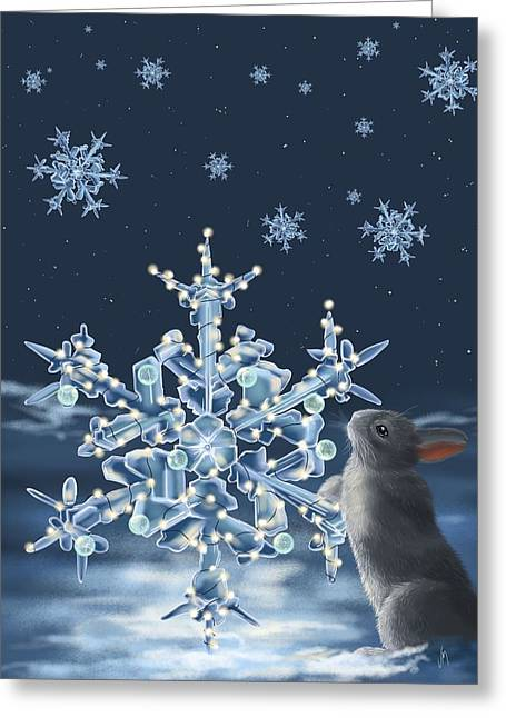 Snowscape Paintings Greeting Cards - Ice crystals Greeting Card by Veronica Minozzi