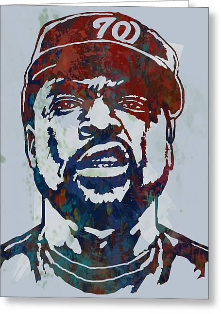 December Mixed Media Greeting Cards - Ice Cube - stylised pop art sketch poster Greeting Card by Kim Wang