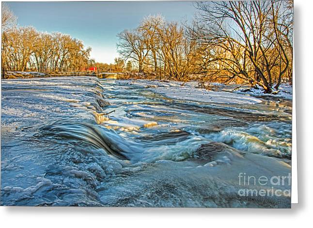 Ice Falls 2 Greeting Card by Baywest Imaging